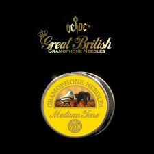 More details for brand new great british gramophone needles & tin - medium tone - made in uk