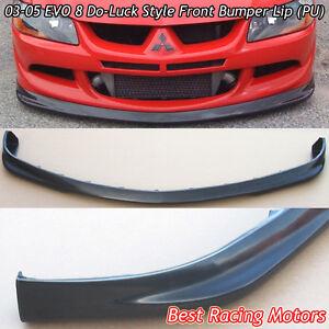 Do-Luck Style Front Bumper Lip (Urethane) Fits 03-05 Mitsubishi EVO 8