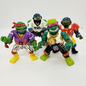 Vintage Lot Of 4 1991 Teenage Mutant Ninja Turtles TMNT Action Figures