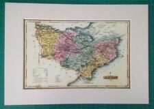 County of Kent Reproduction Mounted Map Ellis's Atlas of England & Wales 1819