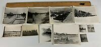Original WWII Photo Lot of 11 US Army Camp Soldiers Snow Germany Europe Cavalry