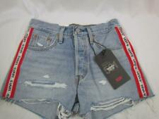 NWT Levi's Premium 501 Shorts High Rise Destroyed Sz 26 Button Fly Org $68.00
