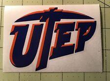UTEP Decal For Your Yeti Rambler Tumbler