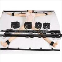 New Under Bed handcuff System Set full Body Restraint Bandage Straps Cuffs Kit