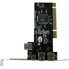 PCI FireWire IEEE 1394 3 + 1 Port Card + 4/6 Pin Cable UK E1O7
