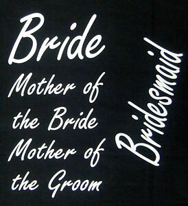 wedding-hen party 4 designs- iron on transfers bride bridesmaid print your own