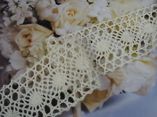 """20 Yards 2"""" Width natural ivory Cotton Crochet Lace Trim for your fashion design"""