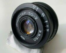 Industar-50-2 Soviet Russian 50mm Pancake Camera Lens - M42 Mount