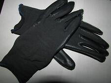 NEW Work Gloves Heavy Duty Rubber Coated Safety Dark Grey Black One Size
