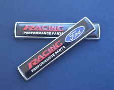 Black 2Pcs Ford Racing Auto Car Emblem Badge Sticker for Focus Mondeo Mustang