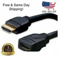 "11"" Inch HDMI Male to Female Extension Adapter Dongle Port Saver Cable M/F Black"