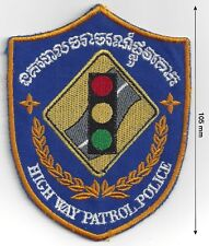 Cambodia National HIghway Patrol Traffic Police Officer Sleeve Patch - New