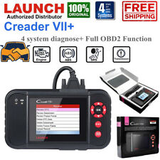 Launch VII+ OBD2 Scanner Code Reader Car Engine ABS SRS Transmission Diagnostic