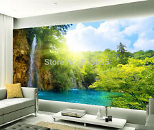 3D Wallpaper Bedroom Mural Roll Waterfall Scenic Lake Morning Sun Wall Picture