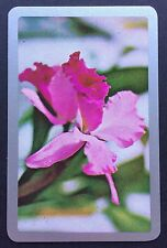 Vintage Swap / Playing Card - PRETTY FLOWERS - Silver Border