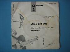 """JOAO GILBERTO """"Samba de uma nota so"""" RARE 7"""" ITALY  PS"""