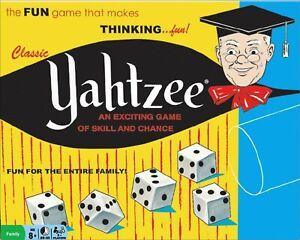 Miniature 1:6 scale classic YAHTZEE Game BARBIE SIZE prop EMPTY TOY BOX