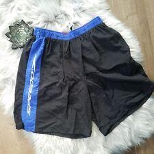 Speedo Vintage Black Nylon Lined Shorts Swimwear Swim Trunks Mens VTG Medium