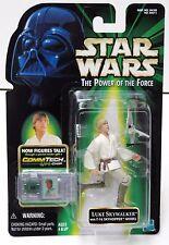Star Wars POTF Comm Tech Luke Skywalker with T-16 Skyhopper Model Action Figure