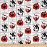 100 per cent Cotton Fabric BTY 45 inch Country Gentlemen Roosters