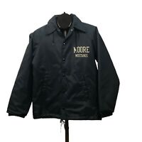 1960s Windbreaker Jacket / 60s Champion Running Man Button Up Coaches Coat S/M