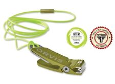 Orvis Nippers In Citron Color - Piano Style Hinge, Type Iii Anodized & Lanyard