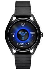 NEW! EMPORIO ARMANI Black Rubber Strap Aluminum Case Smartwatch ART5017 SEALED