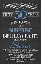 Personalised 21st 30th 40th 50th Adult Whiskey Birthday Invitations invites