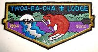 TWOA BA CHA OA 514 CACHE VALLEY COUNCIL 2018 PATCH GMY 1994 NOAC DELEGATE FLAP