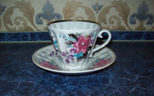 Kaffee- & Teegeschirr aus Porzellan mit Blumen-Motiv