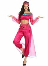 3 PIECE BELLY DANCER BOLLYWOOD JASMINE GENIE ARABIAN PRINCESS COSTUME SIZE 10