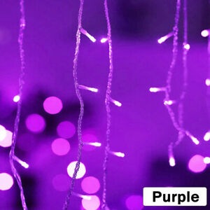 13ft LED Curtain Icicle Lights Wedding Party Fairy Xmas Decor Indoor Outdoor