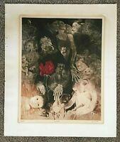 "Vintage G. H. Rothe, ""Youth"", Signed Mezzotint, #16/150, 1981, Unframed"