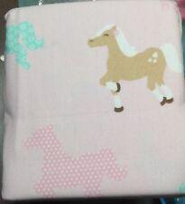 Circo Pretty Horses Wild Flannel 3pc DUVET COVER Set Pink Sz FULL QUEEN Shams