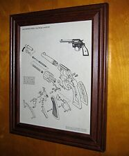 Vintage 1950s Colt Police 38 Exploded View Schematic Print