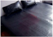DRAP en LATEX NOIR - BLACK LATEX BED SHEET