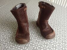 Girls Boots size 6 (23) CLARKS brown leather boots infant