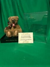 World Of Miniature Bears, Mohair Bear by Theresa #703 Larry with Case