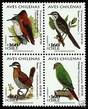 CHILE, CHILEAN BIRDS, MINT NEVER HINGED BLOCK B.-