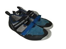 Madrock Mad Rock Blue Suede Climbing Shoes Mens Size 14 Hook Loop