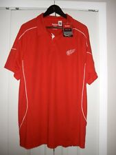 Reebok Detroit Red Wings Polo Shirt, size XL, NWT'S