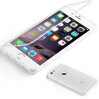 FUNDA PARA IPHONE 6S 4,7 GEL FLIP COVER CASE CON TAPA TRANSPARENTE CATCH HOLD