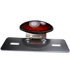Schwarzes LED Rücklicht mit Kennzeichenhalter rotes Glas für Old School Chopper