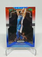 Ben Simmons 76ers Red/White/Blue Prizm 2019-20 Panini Prizm #198 Philly 76ers🔥