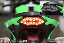 2013-2017 Kawasaki Ninja 300 SEQUENTIAL Signal LED Tail Light Smoke Lens