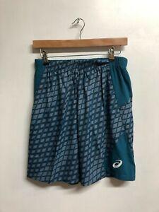 Asics Men's Tennis Shorts Athlete 9 Inch Tennis Style Shorts - Ink Blue Net- New