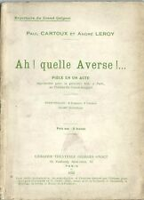RARE EO 1922 GRAND GUIGNOL PAUL CARTOUX & ANDRÉ LEROY : AH ! QUELLE AVERSE !...