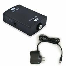 Optical to Coax S/PDIF Coaxial Digital Audio Converter + Power Adapter