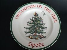 Spode China Christmas Tree S3324 Advertising Plate Ornaments On The Tree unused