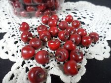 *Decorative pieces - Pea size wood red balls with a stem